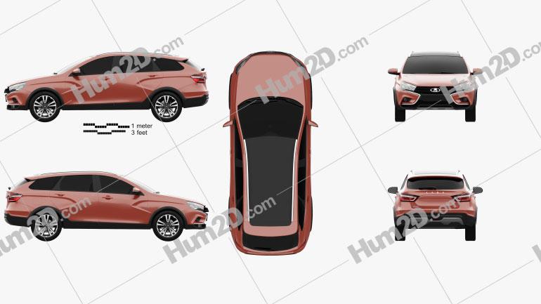 VAZ Lada Vesta Cross 2015 car clipart