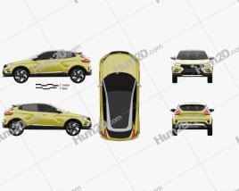 VAZ Lada XCODE 2016 car clipart