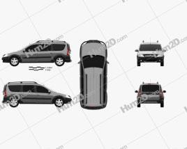 Lada Largus 2014 Clipart