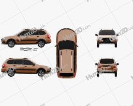 VAZ Lada Granta Cross 2019 car clipart