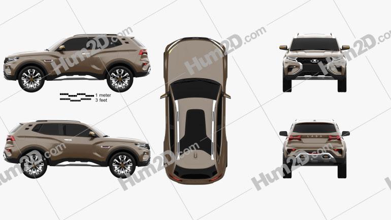 VAZ Lada 4×4 Vision 2018 car clipart