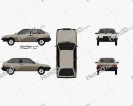 VAZ Lada 2108 1984 car clipart