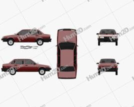 VAZ Lada 21099 1990 car clipart