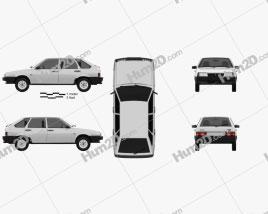 VAZ Lada 2109 1987 car clipart