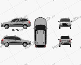 VAZ Lada Granta wagon 2018 car clipart