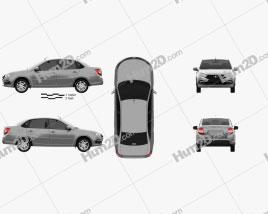 VAZ Lada Granta sedan 2018 car clipart