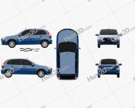 VAZ Lada Granta hatchback 2018 car clipart