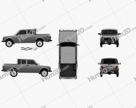 VAZ Lada Niva 4×4 2329 Pickup 2015 car clipart