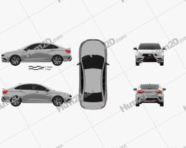 VAZ Lada Vesta Sport 2015 Clipart