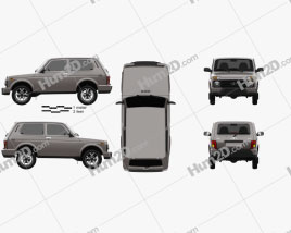 VAZ Lada Niva 4×4 (21214-57) Urban 2019 car clipart