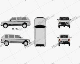 VAZ Lada Niva 4×4 (2131) Urban 2020 car clipart