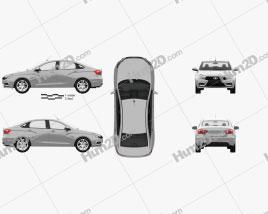 VAZ Lada Vesta with HQ interior 2015 car clipart