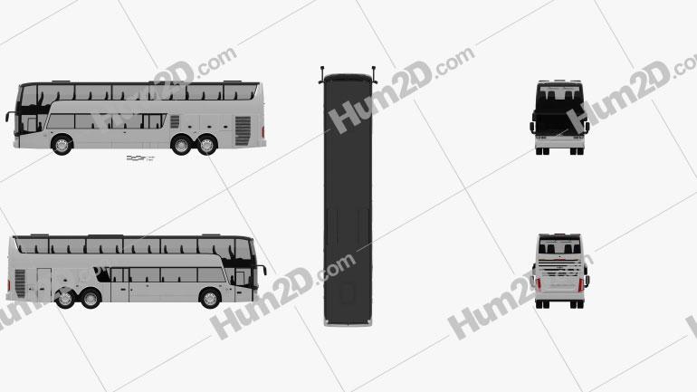Van Hool TDX Bus 2018 clipart