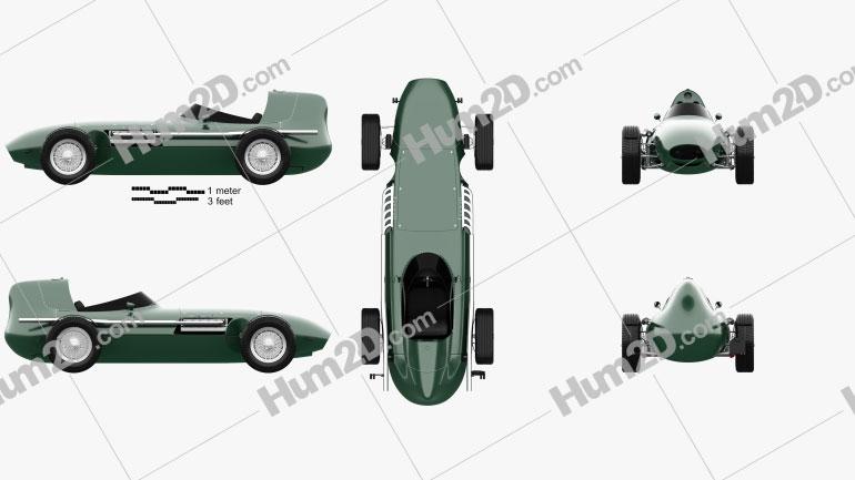 Vanwall GPR V12 1958 car clipart