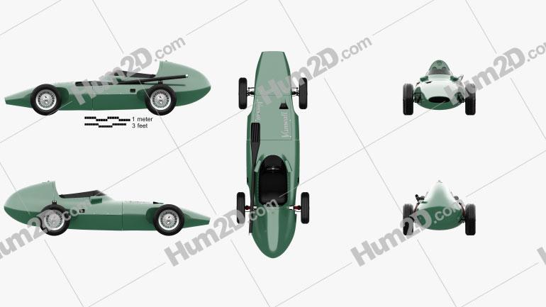 Vanwall VW 57 1957 car clipart
