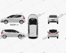 Vauxhall Meriva 2011 car clipart