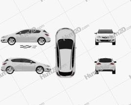 Vauxhall Astra Hatchback 5-türig 2011 car clipart