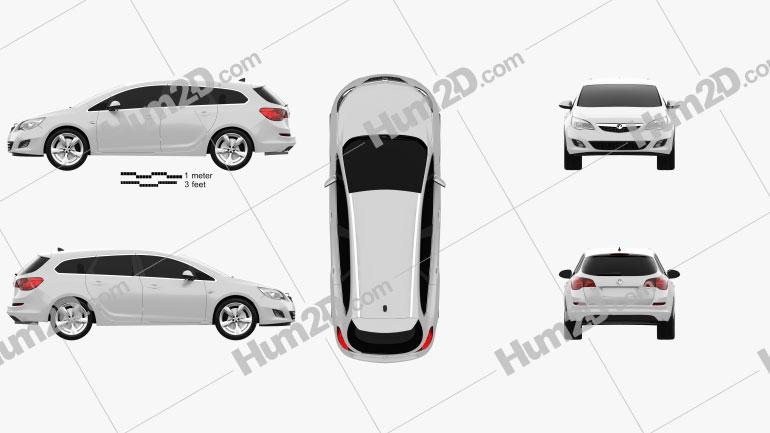 Vauxhall Astra Sports Tourer 2011 car clipart