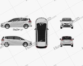 Vauxhall Zafira Tourer 2012 car clipart