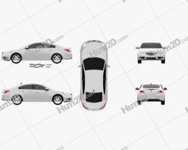 Vauxhall Insignia Sedan 2009 car clipart