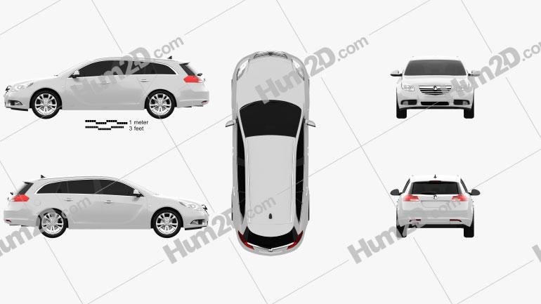 Vauxhall Insignia Sports Tourer 2010 car clipart