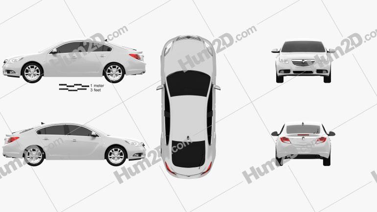 Vauxhall Insignia hatchback 2012 car clipart