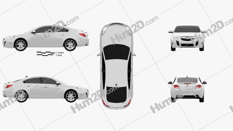 Vauxhall Insignia VXR Schrägheck 2012 Clipart Bild