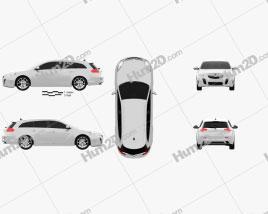 Vauxhall Insignia VXR Sports Tourer 2012 car clipart