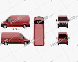 Vauxhall Movano Panel Van 2010 clipart