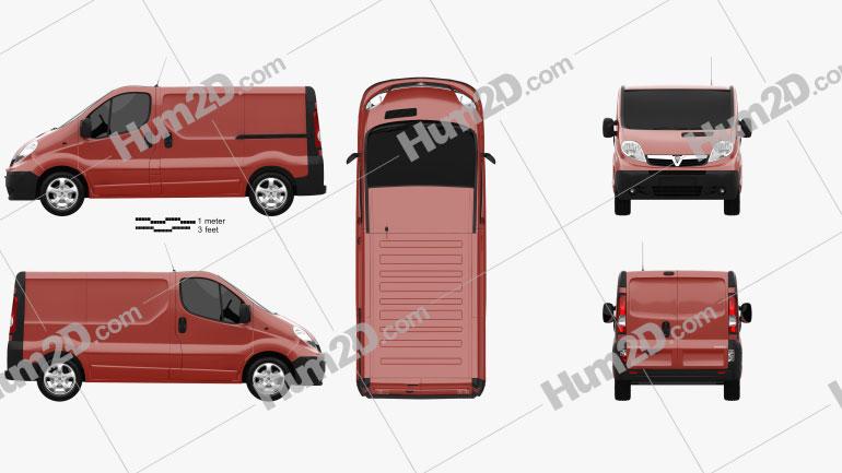 Vauxhall Vivaro Panel Van 2006 Clipart Image