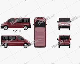 Vauxhall Vivaro Passenger Van 2006 clipart