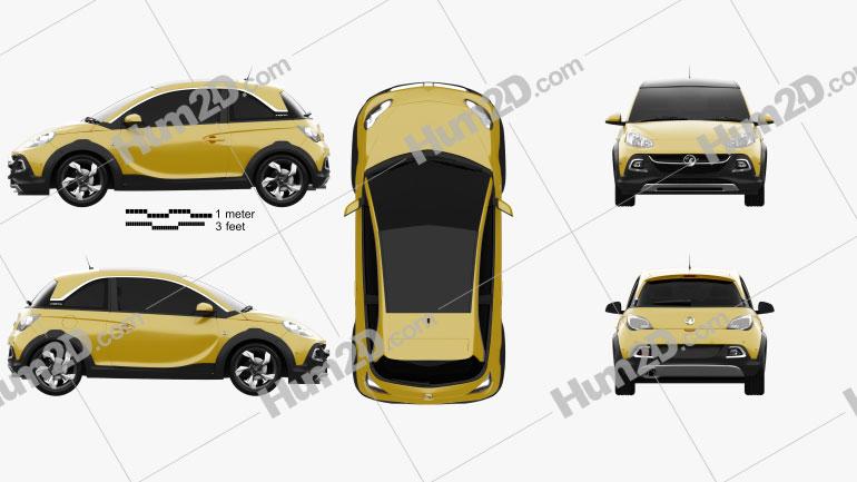 Vauxhall Adam Rocks 2014 car clipart