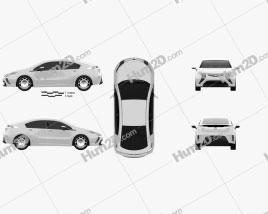 Vauxhall Ampera 2012 car clipart