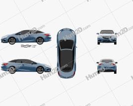 Vauxhall Cascada 2013 car clipart