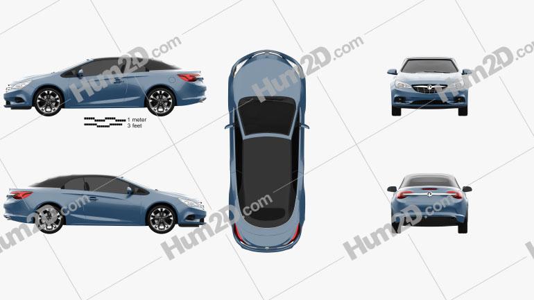 Vauxhall Cascada 2013 Clipart Image