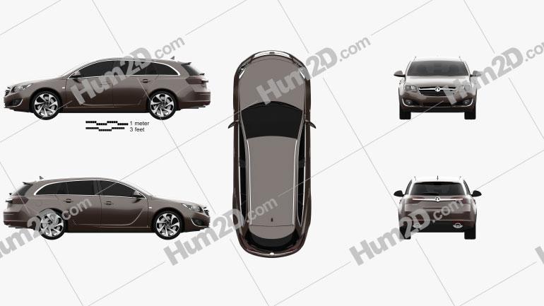 Vauxhall Insignia Sports Tourer 2013 car clipart