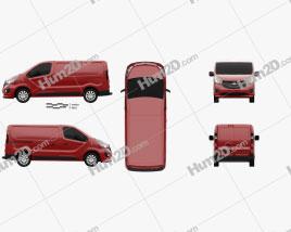 Vauxhall Vivaro Kastenwagen L1H1 2014 clipart