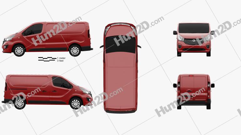 Vauxhall Vivaro Panel Van L1H1 2014 clipart