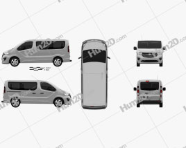 Vauxhall Vivaro Passenger Van L1H1 2014 Clipart