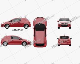 Vauxhall Corsa (D) Van 2010 car clipart