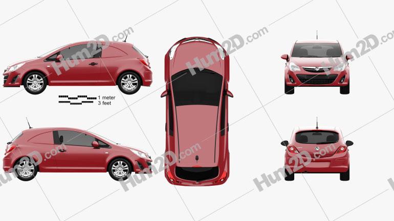 Vauxhall Corsa (D) Van 2010 Clipart Bild