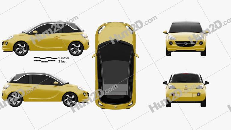 Vauxhall Adam 2013 car clipart