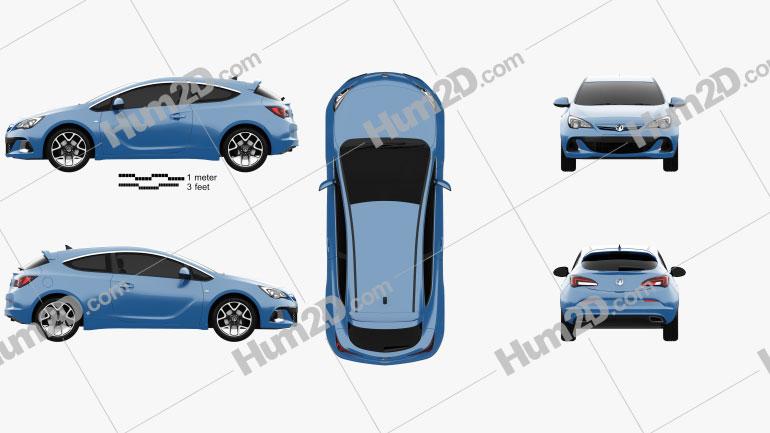 Vauxhall Astra VXR 2012 car clipart