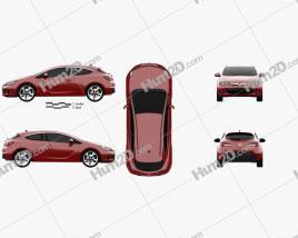 Vauxhall Astra GTC 2011 car clipart