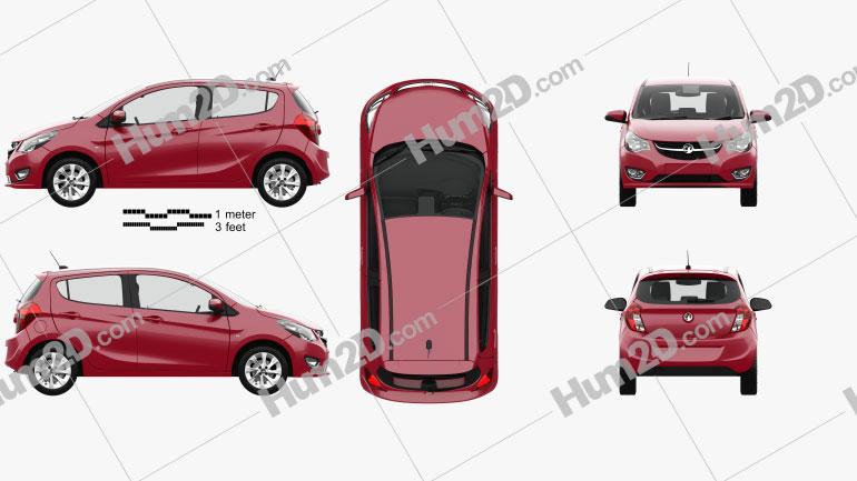 Vauxhall Viva SL with HQ interior 2015 Clipart Image