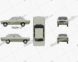 Vauxhall Viva 1966 car clipart