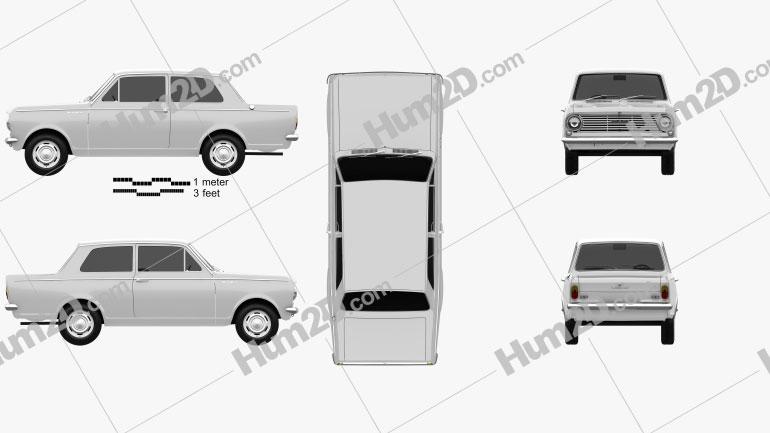 Vauxhall Viva 1963 car clipart