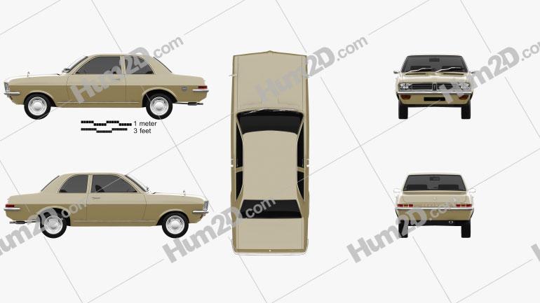 Vauxhall Viva 1970 car clipart