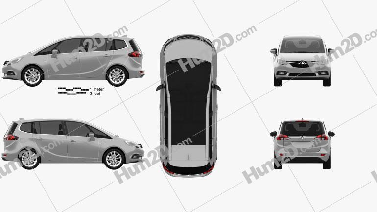 Vauxhall Zafira (C) Tourer 2016 clipart