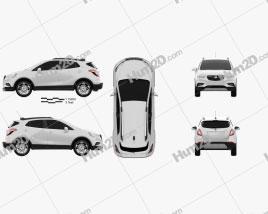 Vauxhall Mokka X 2017 car clipart